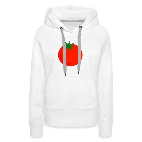 Tomate - Sudadera con capucha premium para mujer