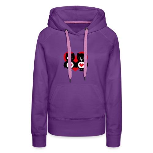 verliebte Eulen - Frauen Premium Hoodie