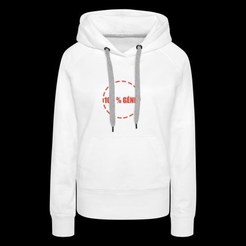 100% - Sweat-shirt à capuche Premium pour femmes