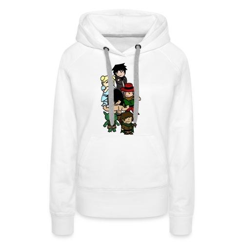 Boxer blanc png - Sweat-shirt à capuche Premium pour femmes