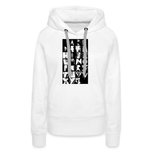 Alphabet Style urbain - Sweat-shirt à capuche Premium pour femmes