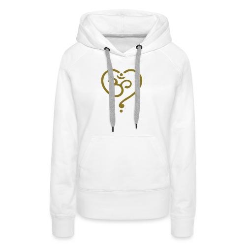 OM Symbol Herz Yoga Liebe Spiritualität Meditation - Frauen Premium Hoodie