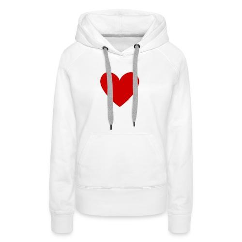 hart_normal_d - Vrouwen Premium hoodie