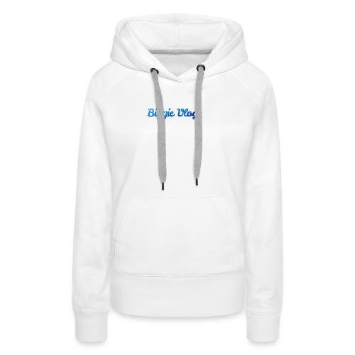 blue BiggieVLogs Kids tshirt - Women's Premium Hoodie