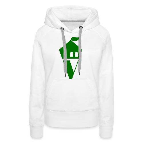 Villekula Logo in Grün auf Schwarz - Frauen Premium Hoodie