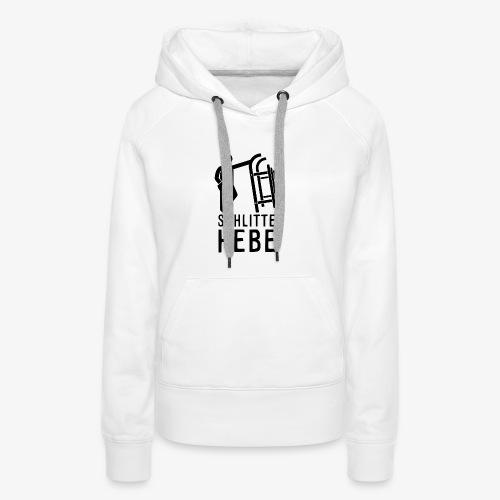 Schlitte hebe - Schwarz - Frauen Premium Hoodie