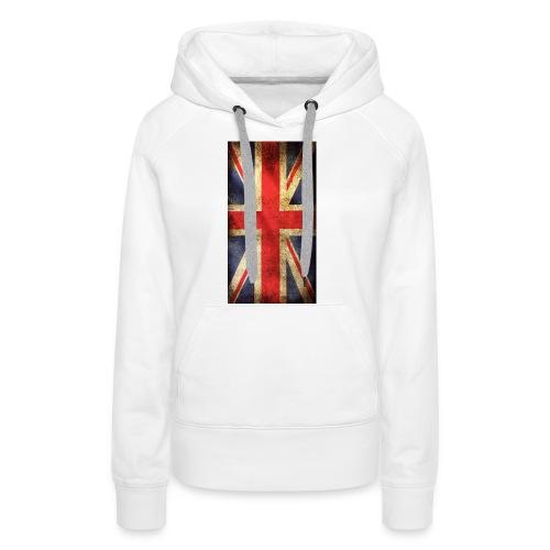 English Flag jpg - Premiumluvtröja dam