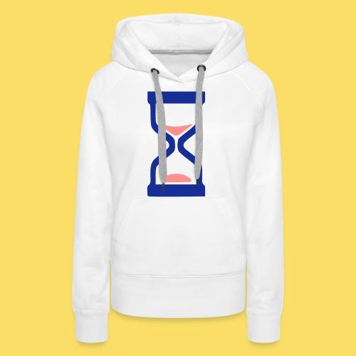 ⏳ ✦°•Hourglass-Sandglass vector design - Women's Premium Hoodie