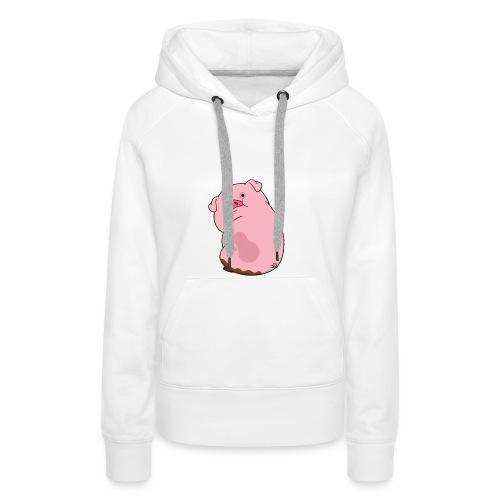 Morsomme griser - Premium hettegenser for kvinner