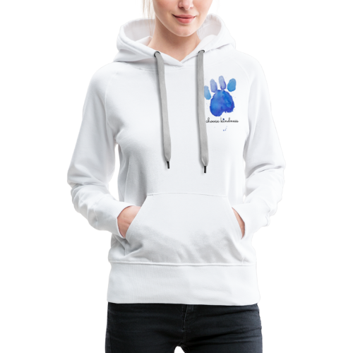 Tierfreund Choose Kindness Hundepfote Wasserfarben - Frauen Premium Hoodie