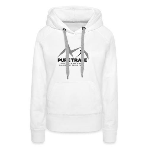 logo-PURE_TRACE-black - Sweat-shirt à capuche Premium pour femmes