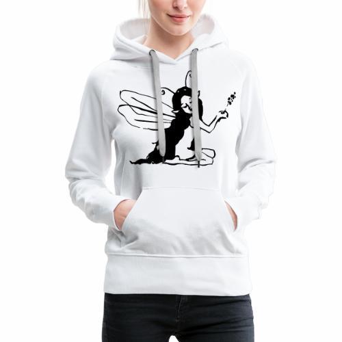 Fée assise - Sweat-shirt à capuche Premium pour femmes
