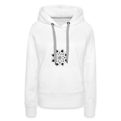Mandala interior - Sudadera con capucha premium para mujer
