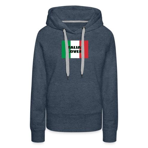 ITALIAN LOVER - Felpa con cappuccio premium da donna