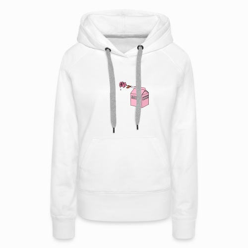 Milkkkkk & rose drink - Sweat-shirt à capuche Premium pour femmes