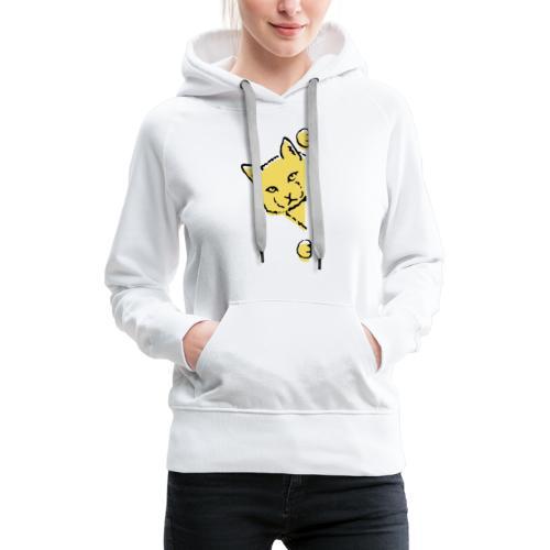 En gul katt - Premiumluvtröja dam