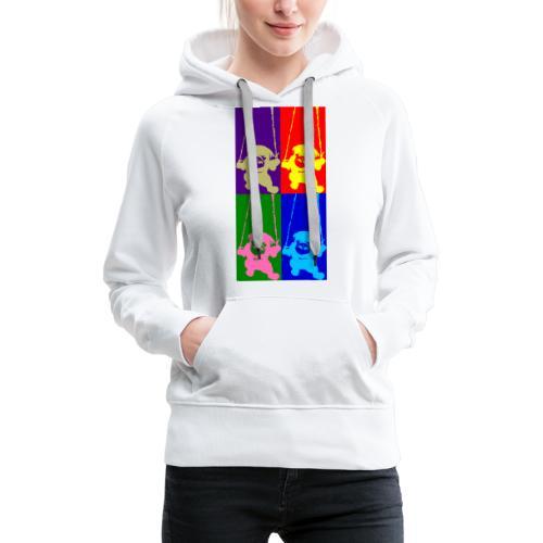 pug-warhol - Sweat-shirt à capuche Premium pour femmes