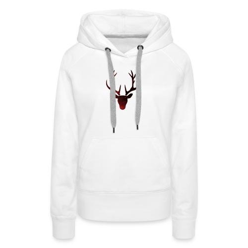 Le renne de l'espace - Sweat-shirt à capuche Premium pour femmes