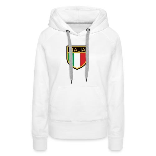 SCUDETTO ITALIA CALCIO - Felpa con cappuccio premium da donna