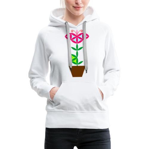 The Flower Of Life - Sacred Plants. - Women's Premium Hoodie