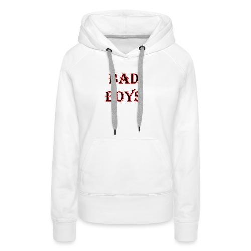 bad boys black red - Sweat-shirt à capuche Premium pour femmes