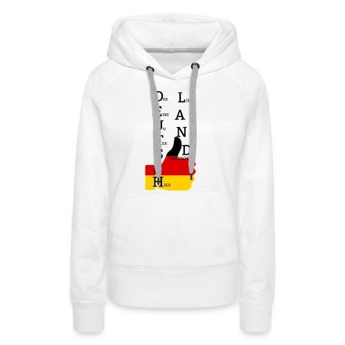 Deutsche Flagge mit Daumen 2 (Exklusives Design) - Frauen Premium Hoodie