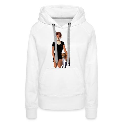 Fox Girl - Frauen Premium Hoodie
