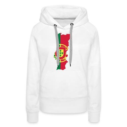 Portugal - Sweat-shirt à capuche Premium pour femmes