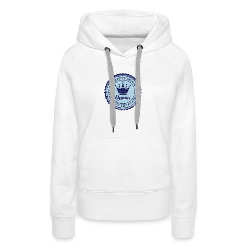 Apresski Queen Grunged Badge Shirt - Frauen Premium Hoodie