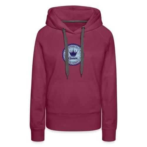 Apresski Queen Grunged Badge Shirt - Frauen Premium Hoodie
