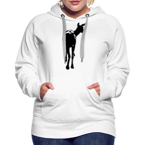 Reh deer Hirschkuh Silhouette - Frauen Premium Hoodie