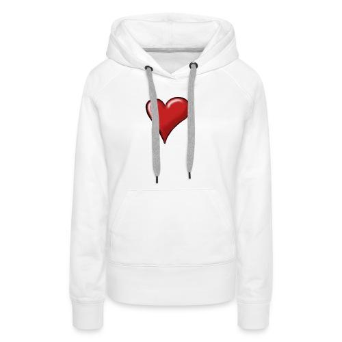 Love (coeur) - Sweat-shirt à capuche Premium pour femmes