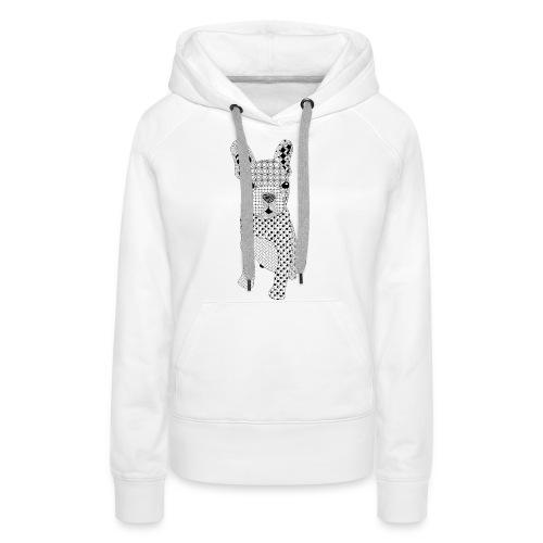 Bulldog puppy patroon - Vrouwen Premium hoodie