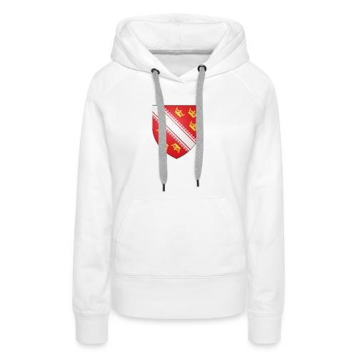 Blason de l'Alsace - Sweat-shirt à capuche Premium pour femmes