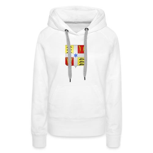 Blason Montbéliard - Sweat-shirt à capuche Premium pour femmes