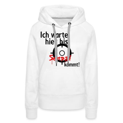 Warten auf Senpai 2v2 - Frauen Premium Hoodie