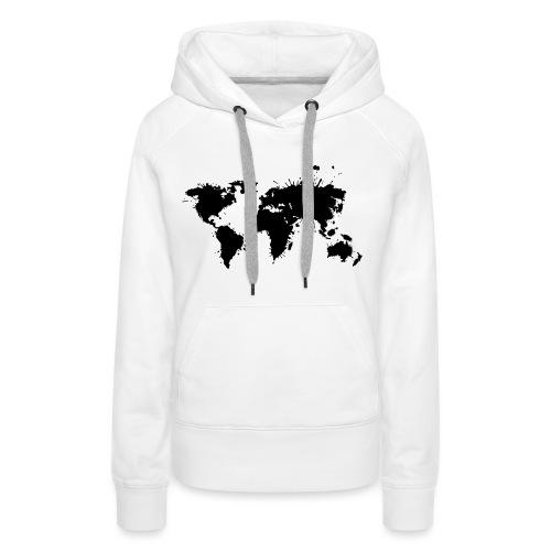 Weltkarte Splash - Frauen Premium Hoodie