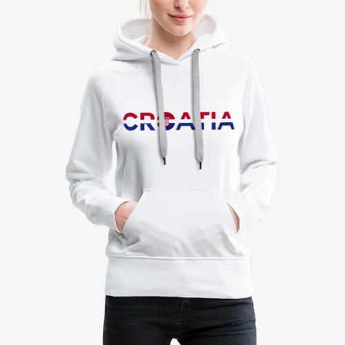 From Croatia with Love - Croatia stripswith emble - Frauen Premium Hoodie