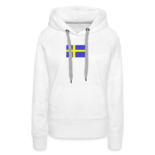 sverigeflaggahemmagjord png - Women's Premium Hoodie
