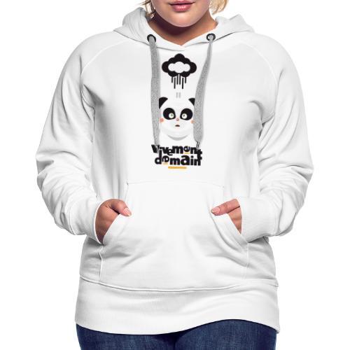vivement demain - Sweat-shirt à capuche Premium pour femmes