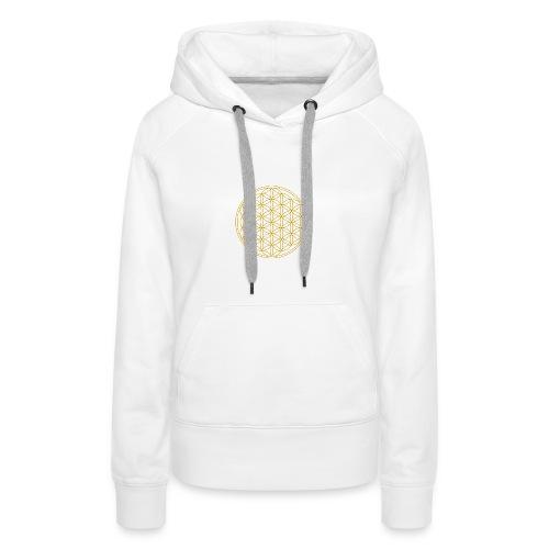 Goldene Blume des Lebens - Frauen Premium Hoodie