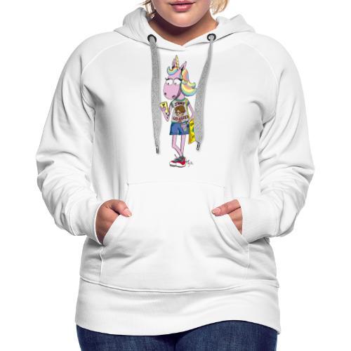 Licorne & Geek - Sweat-shirt à capuche Premium pour femmes