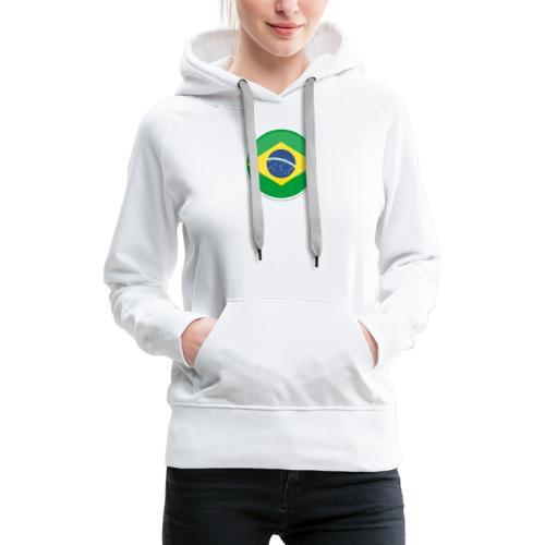 Bandeira do brasil Encontro - Women's Premium Hoodie
