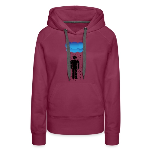 Stickman in the rain - Women's Premium Hoodie