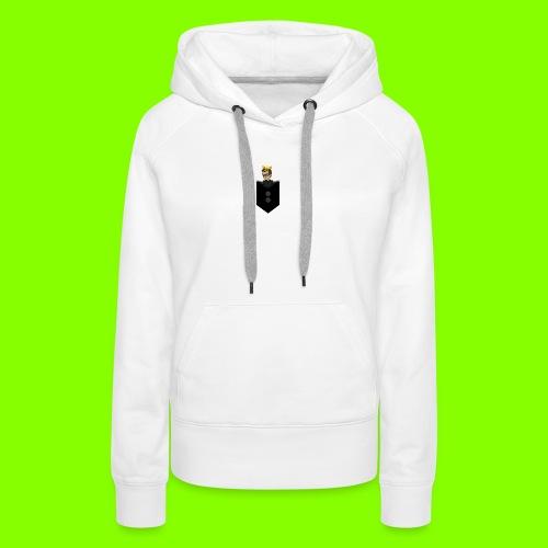 T-Shirt De Cor Dupla c/ Bolso - Women's Premium Hoodie