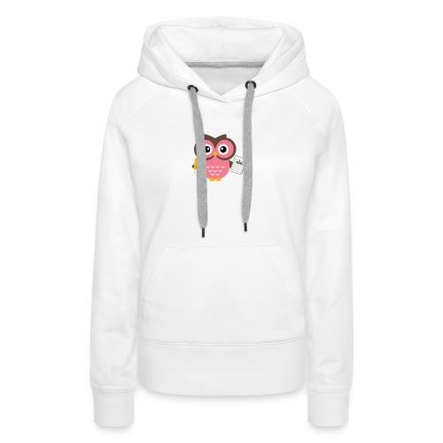 Back to School Owl - Women's Premium Hoodie