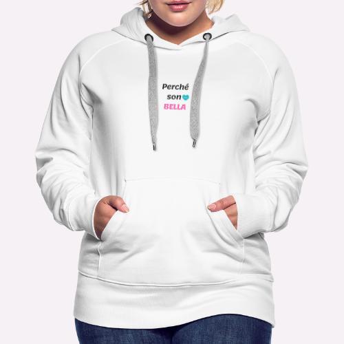 T_shirt personale - Felpa con cappuccio premium da donna
