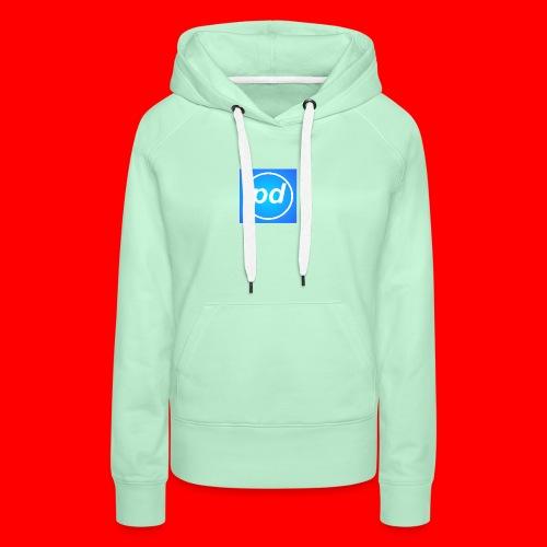 pd Blue V2 - Dame Premium hættetrøje