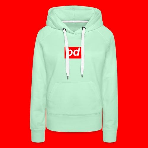 pd Red - Dame Premium hættetrøje