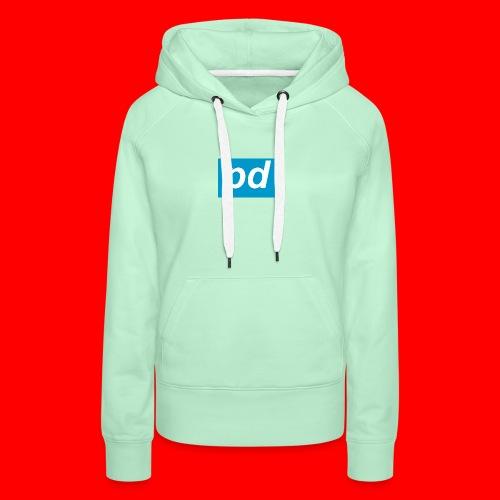 pd Blue - Dame Premium hættetrøje